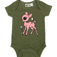 Fawn Olive & Pink One Piece