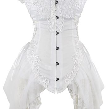 Atomic Vintage Inspired White Bustier Corset