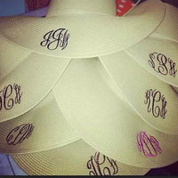 Ladies Monogrammed Floppy Beach Sun Hat - Beach, Summer, Spring - 5 Colors - Monogrammed, Embroidered