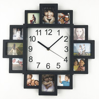 2016 New DIY Wall Clock Modern Design DIY Photo Frame Clock Plastic Art Pictures Clock  Unique Klok Home Decor Horloge