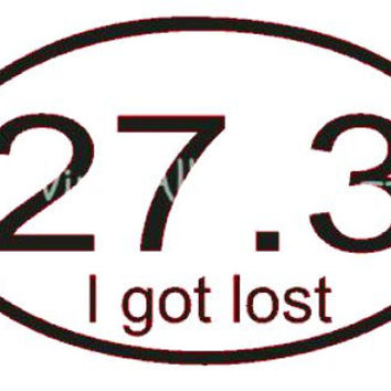 27.3 Marathon Sticker- I got Lost!, Marathon Decal, Half Marathon, Full Marathon, Runner Decal