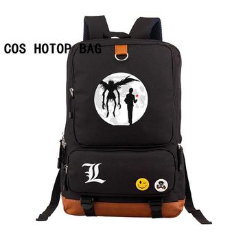 Anime Backpack School Japan kawaii cute Death Note Backpack Large Printing Shoulder Bag for Boys Girls Travel Laptop Book Bags canvas backpack 18 style AT_60_4