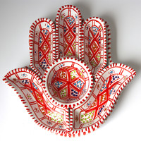 Hamsa Tunisian Ceramic Red