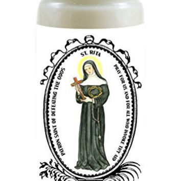 Saint Rita Patron of Defeating the Odds 8 Ounce Scented Soy Prayer Candle