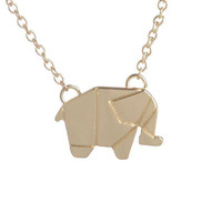 Geometric Elephant Necklaces - ngBay.com