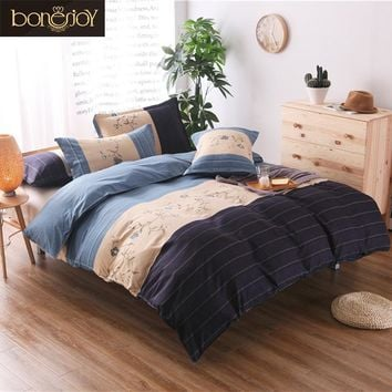 2017 New King Size Striped Bedding Black /white/Blue 2/3pcs Bedspread Colorfull Striped Duvet Cover Bedding Kit