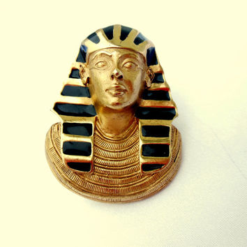 Egypian Pharaoh Brooch Pendant by Erwin Pearl