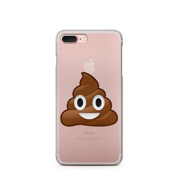 """CLEARANCE"" Poop Emoji - Clear Case Cover"
