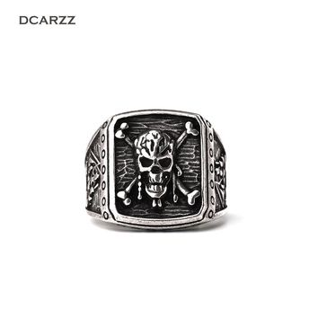 Pirates of the Caribbean Ring,Pirate Skull Capitan 3D Ring,Retro Ring for Men Movie jewelry Drop Shipping