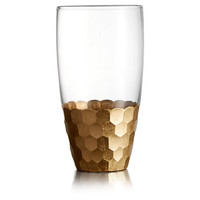 Daphne Gold Highball Tumblers, Set of 4, Highballs