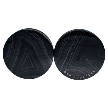 "1 7/8"" (47mm) Black Line Agate Stone #7515"