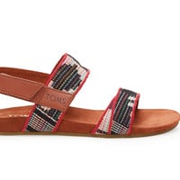 TOMS Multi Tribal Woven Women's Tierra Sandal Brown