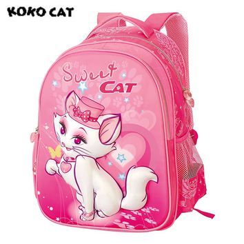 Sweet Cat Pink School Backpack