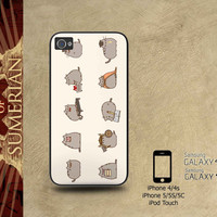 Pusheen The Cat Emoticon - iPhone cases 4/4S Case iPhone 5/5S/5C Case Samsung Galaxy S3/S4 Case