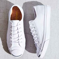 Converse Jack Purcell Tumbled Leather Low-Top Sneaker