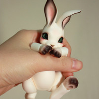 Peppi [ Rabbit BJD doll ] Open eyes Cream white