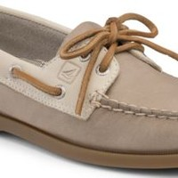 Sperry Top-Sider Authentic Original Two-Tone 2-Eye Boat Shoe Gray/Oat, Size 10M  Women's Shoes