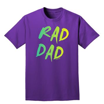 Rad Dad Design - 80s Neon Adult Dark T-Shirt