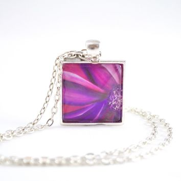 Purple & Pink Flower Necklace