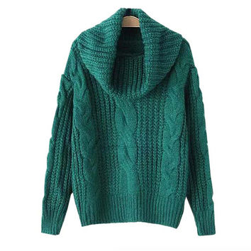 Pullover Knit Tops Women's Fashion Korean Casual Sweater [9017745732]