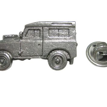 Silver Toned Textured 4x4 Exploring Rugged Truck Lapel Pin