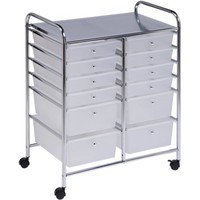 Honey Can Do 12-Drawer Rolling Cart, Clear - Walmart.com