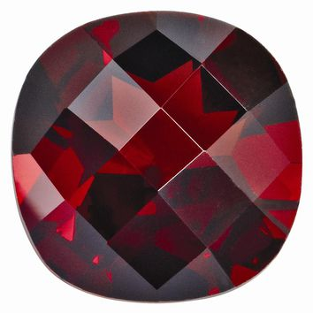 Loose Garnet Gemstone  12mm Cushion Checkerboard AA Quality