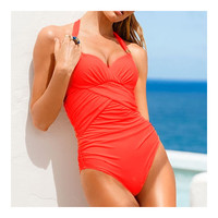 Women's One-piece Monokini Swimwear Swimsuit Conservative   orange  S