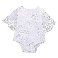 Infant Baby Clothes Girl Lace Floral Romper Jumpsuit Outfits Sunsuit 2017 Summer Baby Girls Romper Cute Baby Girl Clothes