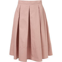 Pale Pink Pleated Midi Skirt - TopShop - Polyvore