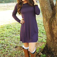 Simple And Flawless Dress: Purple