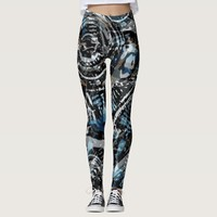Black and Blue V-Twin Leggings