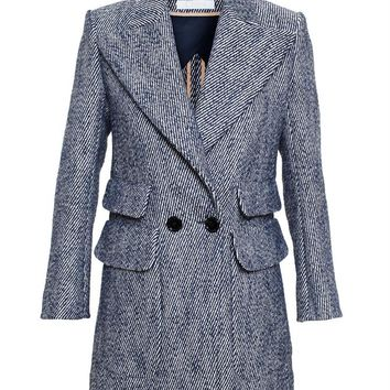 Double Breasted Tweed Jacket - CHLOÉ