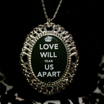 Love will tear us apart necklace by Boxwinebetty on Etsy
