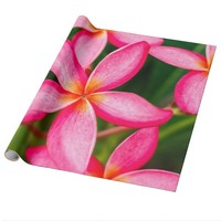 Bright Pink Plant Wrapping Paper