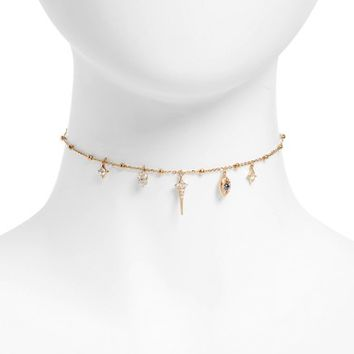 Nadri Evil Eye Charm Choker Necklace | Nordstrom