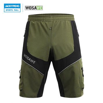 WOSAWE 2018 Quick-dry MTB Bike Cycling Shorts 4 Pockets Multifunction Outdoor Sports Shorts for Riding Running Mild off-road