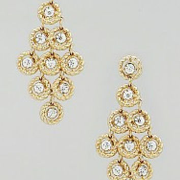 Glistening Crystal Chandlier Earrings