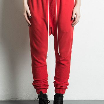 roaming cropped jogger / red