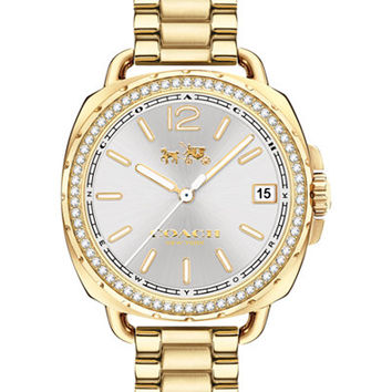 COACH Women's Tatum Gold-Tone Stainless Steel Bracelet Watch 34mm 14502589 - Watches - Jewelry & Watches - Macy's