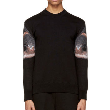 Givenchy Black Knit Cotton Moth Sweater