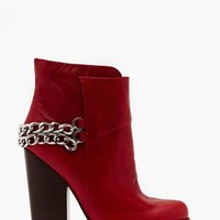 Jeffrey Campbell Mclean Chained Boot - Red