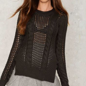 Knit For a While Sheer Sweater