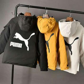 PUMA Classic Fashionable Women Men Warm Hoodie Cardigan Jacket Cotton Coat