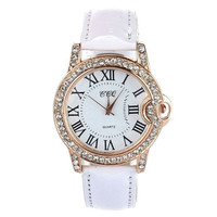 Women Lady PU Leather Wrist Watch