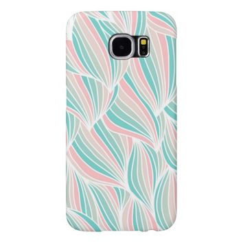Cool Colorful Ocean Waves Pattern Samsung Galaxy S6 Cases