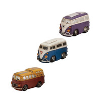 0-000671>VW Hippy Van Bank Set of 3 Polystone Decorative