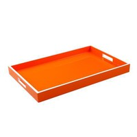 Orange with White Trim Breakfast Tray