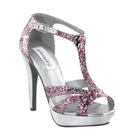 shop prom dresses | plus size prom dresses | prom shoes | Samara by Dyeables 23212 Glitter Platform Sandal | GownGarden.com