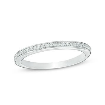 1/8 CT. T.W. Diamond Wedding Band in 14K White Gold (H/SI2)|Zales